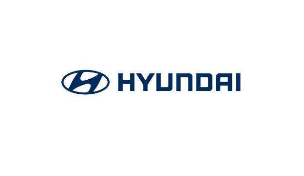 Hyundai logo in blue against a white background