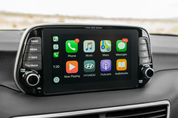 infotainment system in a 2019 Hyundai Tucson