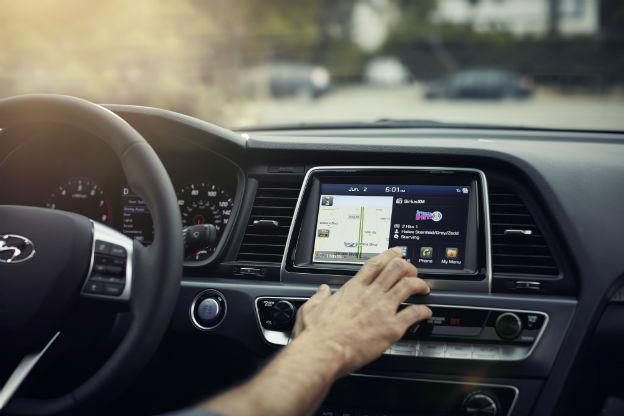 infotainment system in a 2019 Hyundai Sonata