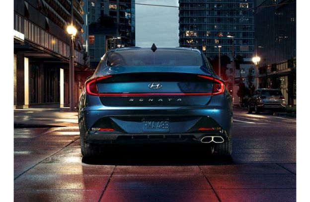 Rear view of a 2020 Hyundai Sonata