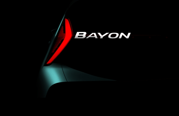 Taillight and name of upcoming Hyundai Bayon
