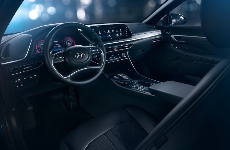 Interior front cabin of 2021 Hyundai Sonata