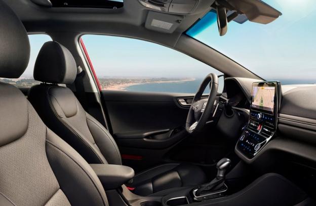 Interior of a 2021 Hyundai Ioniq Hybrid